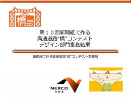 """第10回新聞紙で作る 高速道路""""橋""""コンテスト"""