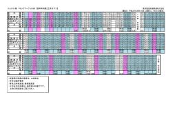 りんかい線 コミックマーケット88 臨時時刻表【土休日下り】 新 木 場 発 東