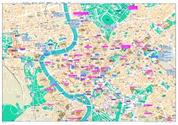 ローマ中心街の地図 (ガイド付き)