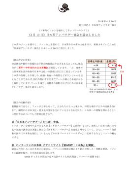 《4 月 10 日》日本茶アンバサダー協会を設立しました
