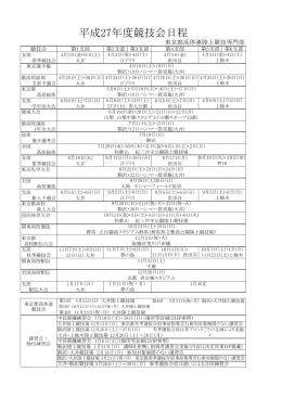 平成27年度競技会日程 - 東京都高等学校体育連盟陸上競技部