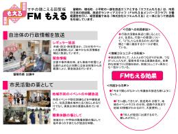 FMもえる(留萌市)まちの回覧板
