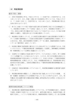 (8)周産期医療(PDF:336KB)