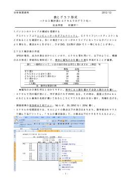 表とグラフ形式の基本 資料PDF