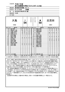 志茂田 大島 - 栃木県バスケットボール協会