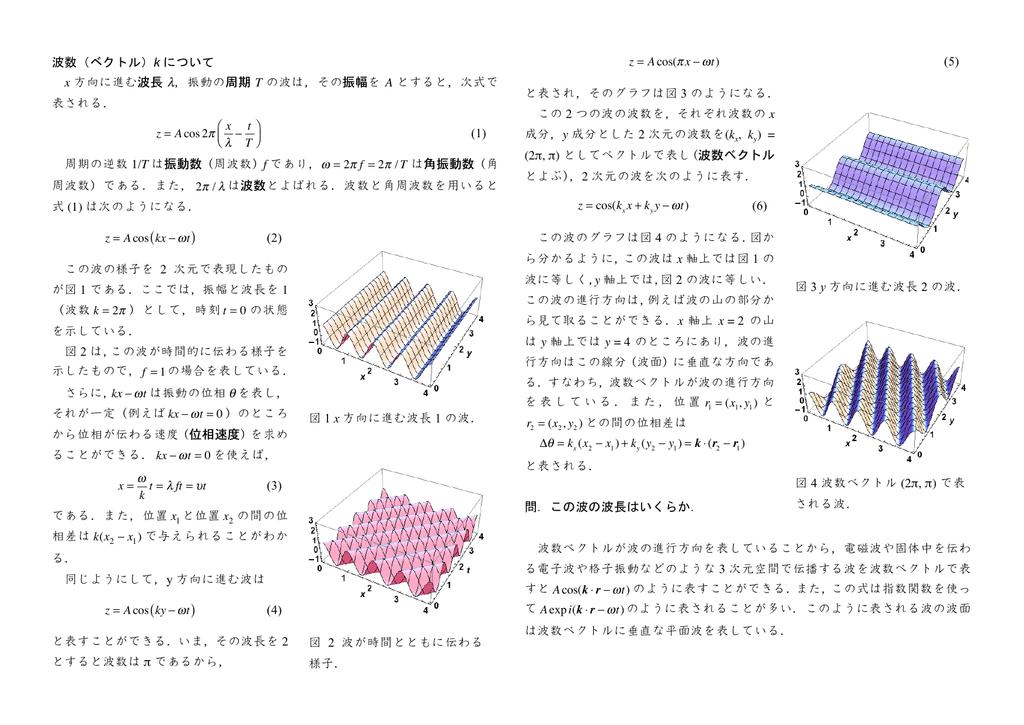 ベクトル 波数