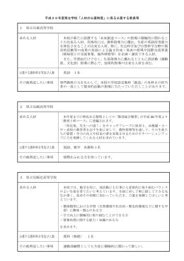 1 県立兵庫高等学校 求める人材 本校が新たに設置する「未来創造