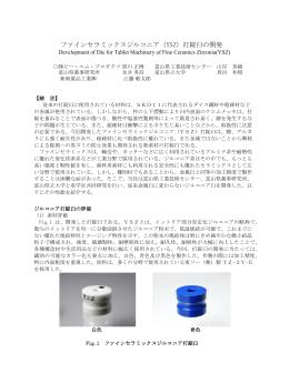 ファインセラミックスジルコニア(YSZ)打錠臼の開発