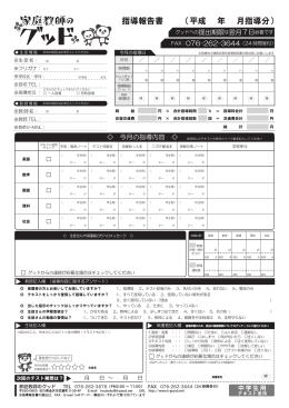 指導報告書 (平成 年 月指導分)