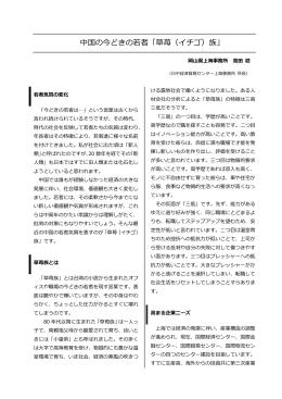 (中国の今どきの若者「草苺(イチゴ)族」) [PDFファイル/233KB]