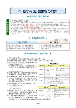 4.ねずみ族、昆虫等の対策(PDF:596KB)
