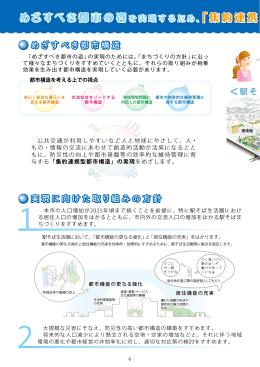 めざすべき都市の姿 「集約連携 型都市構造
