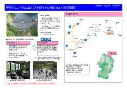 神室ダム[ダム湖とブナ原  林が織り成す  然景観]