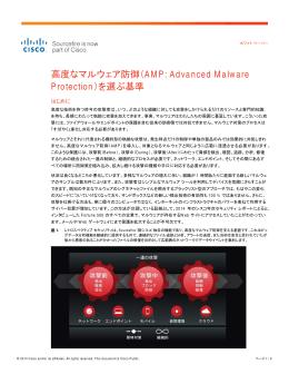 高度なマルウェア防御(AMP:Advanced Malware Protection)を選ぶ基準
