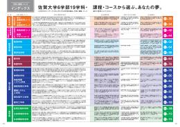 佐賀大学6学部19学科・ 課程・コースから選ぶ、あなたの夢。
