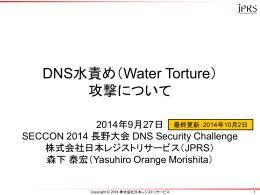 DNS水責め(Water Torture) 攻撃について
