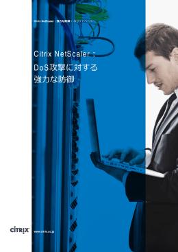 Citrix NetScaler: DoS攻撃に対する 強力な防御
