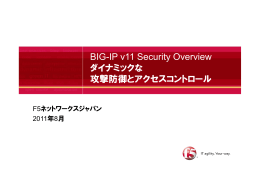 BIG-IP v11 Security Overview ダイナミックな 攻撃