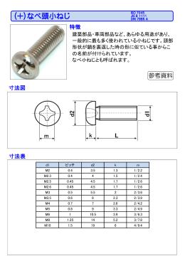 (+)なべ頭小ねじ PHOTO 6.8前後 図面 寸法表