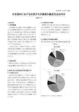 日本国内における天然ガスの最適な輸送方法は何か ( 384KB) 齋藤 未来
