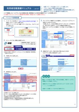 利用者初期登録マニュアル - ver.1.3.1-
