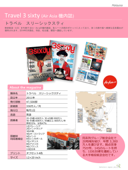 Travel 3 sixty (Air Asia 機内誌)