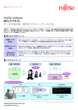 データを高圧縮、暗号化でセキュリティも万全 縮丸(ちぢまる) FUJITSU