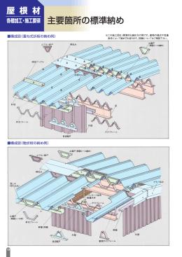 主要箇所の標準納め 屋 根 材