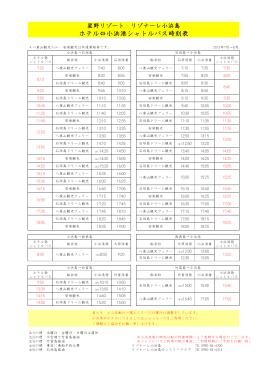ホテル⇔小浜港シャトルバス時刻表 - 星野リゾート リゾナーレ 小浜島