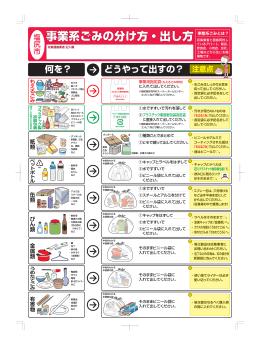 事業系ごみの分け方・出し方(PDF:874KB)