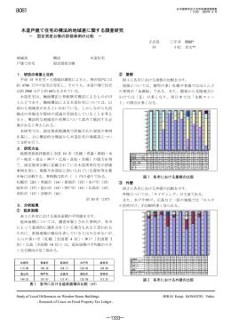 木造戸建て住宅の構法的地域差に関する調査研究 ―1333