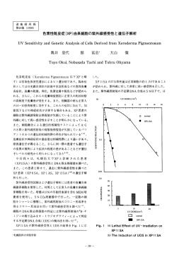色素性乾皮症(XP)由来細胞の紫外線感受性と遺伝子解析
