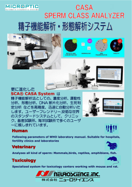 更に進化した SCA® CASA System は Veterinary Toxicology Human