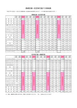 長崎空港∼佐世保方面バス時刻表