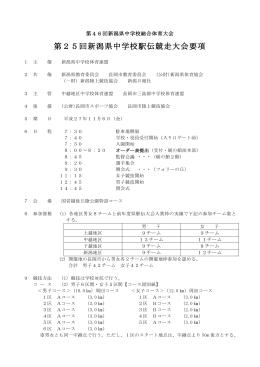 第25回新潟県中学校駅伝競走大会要項