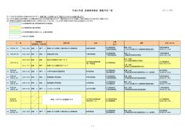 県内産業医研修会の日程