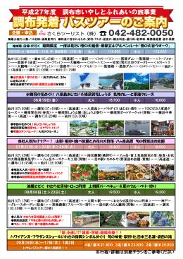 平成27年度 日帰りバスツアー一覧(PDFファイル)