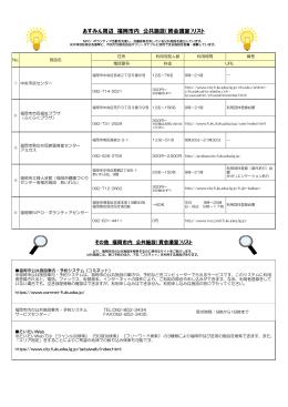 あすみん周辺 福岡市内 公共施設(貸会議室)