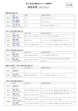弦楽部門 本選結果(PDF形式、236キロバイト)