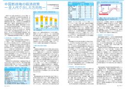 中国新政権の経済政策 ―全人代で示した方向性―