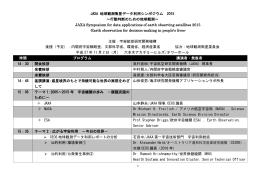 JAXA 地球観測衛星データ利用シンポジウム 2015 〜行動判断のための