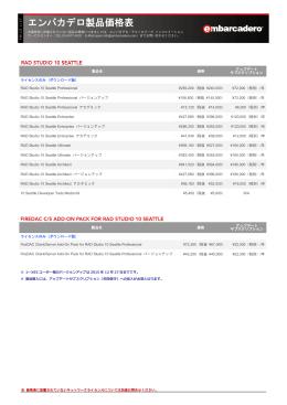 エンバカデロ製品価格表 - Embarcadero Developer Network