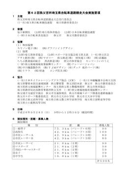 第62回秩父宮杯埼玉県自転車道路競走大会実施要項