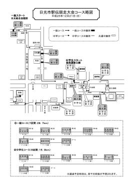 日光市駅伝競走大会コース略図