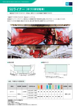 SUライナー [中づり貸切電車] 1編成全ての中づりポスターを独占。東京