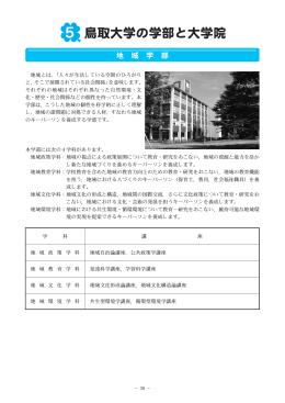 鳥取大学の学部と大学院