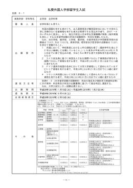 私費外国人学部留学生入試
