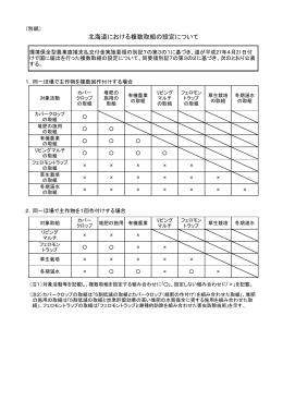 北海道における複数取組の設定について