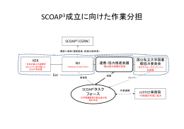 SCOAP3成立に向けた作業分担