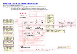 婚姻届(外国人と日本方式で婚姻する場合の記入例)